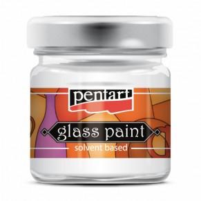 Краска витражная на основе растворителя холодной фиксации, кармин, 00774