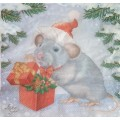 Салфетка для декупажа Мышка-символ года, DFN2020