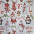 Салфетка для декупажа Merry Christmas, DFN2021