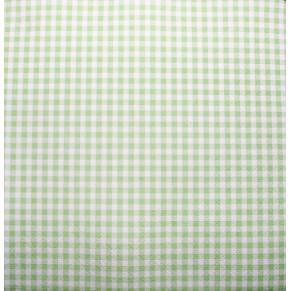 Салфетка для декупажа Клетка зеленая, FNK002