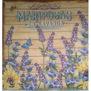 Салфетка для декупажа Бабочки в лаванде, SD102