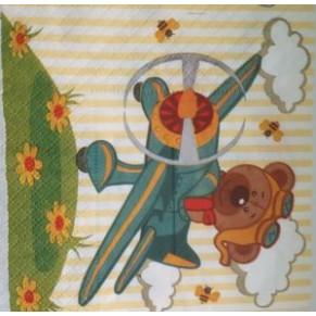Салфетка для декупажа Полет медвежонка, SD104