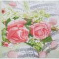 Салфетка для декупажа Мелодия роз, SD116