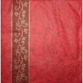 Салфетка для декупажа Красный орнамент, SD121