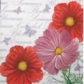 Салфетка для декупажа Цветы космеи, SD126