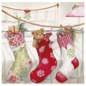 Салфетка для декупажа Рождественские подарки, SD130