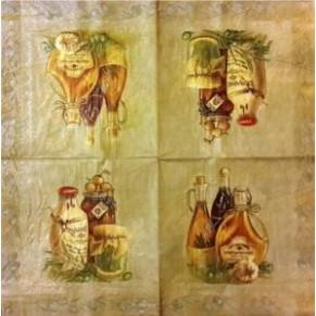 Салфетка для декупажа Оливковое масло, SD132