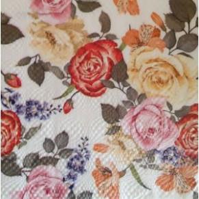 Салфетка для декупажа Разноцветье роз, SD148