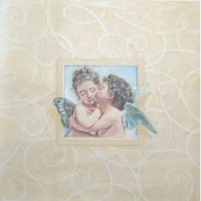 Салфетка для декупажа Влюбленные ангелы, SD166