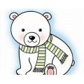 Штамп Snag 'em Stamps - Polar Bear, Imaginisce, 001606