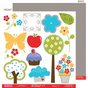 Бумага Cute Cuts 30х30 см, Bella BLVD, blvd-136