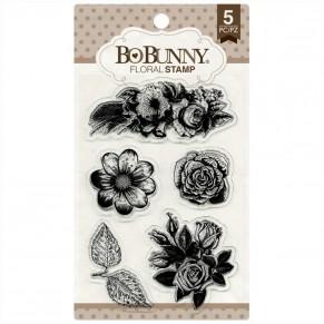 Штампы акриловые Floral, Bo Bunny, 12105894