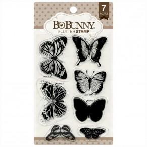 Штампы акриловые Flutter, Bo Bunny, 12105895