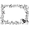 Папка для тиснения Bird Scroll Frame, Embossing Folder,  10.8 х 14.5 см, Darice, 1216-63