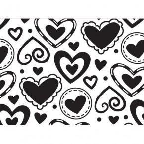 Папка для тиснения Layered Hearts, Embossing Folder, 10.8 х 14.5 см, Darice, 1216-69