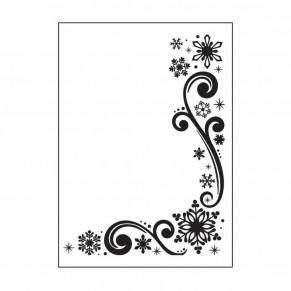 Папка для тиснения Snowflaces and Scroll, Darice, 1218-117