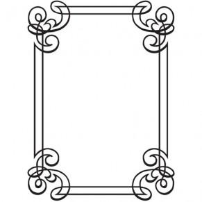 Папка для тиснения Ornate Frame, 10.8 х 14.5 см, Darice, 1218-31