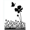 Папка для тиснения Butterfly Flower, 10.8 х 14.5 см, Embossing Folder, Darice, 1218-54
