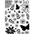 Папка для тиснения Floral, Embossing Folder, 10.8 х 14.5 см, Darice, 1218-76