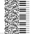 Папка для тиснения Piano Notes, Darice, 1219-130