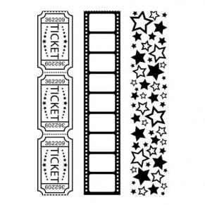 Папки для тиснения Movie Theme 3 Pack, Darice, 1219-139