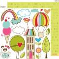 Бумага Cute Cuts, Sunny Happy Skies, Bella BLVD, 128