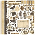 Наклейки Documented Fundamentals Cardstock Stickers, 30х30 см, Simple Stories, 2302_1