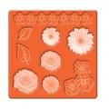 Силиконовый молд для изготовления украшений Mod Podge, Mod Molds – Flowers, Plaid, 24889