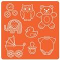 Силиконовый молд Mod Podge Mod Molds – Baby, Plaid, 25116