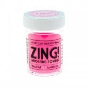 Пудра для эмбоссинга Neon Pink Zing! embossing powder, 27129