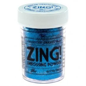 Пудра для эмбоссинга с глиттером Blue Glitter Zing! embossing powder, 27143