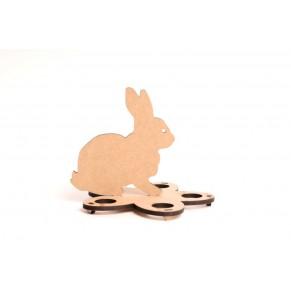 Подставка для яиц Кролик пасхальный, ДВП, 2806027