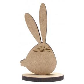 Заготовка Кролик на подставке, МДФ, 2806030
