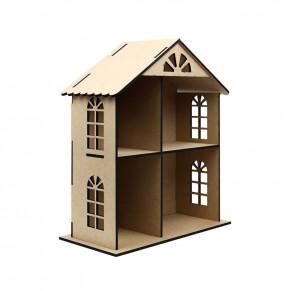 Кукольный домик двухэтажный, МДФ, 2873001
