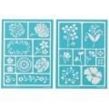 Трафарет Blossoms Adhesive Stencils, Martha Stewart Crafts, 32269