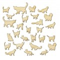 Деревянные фигурки Wood Veneer-Cats, Studio Calico, 331301