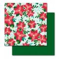 Лист картона Christmas Merry  Memories, 30х30 см, American Crafts, 35197