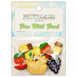 Набор пуговиц Fruit Basket, Buttons Galore, 4095