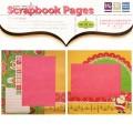 Готовые скрапстраницы для альбома, Merry Bright, Premade Scrapbook Pages, 20×20 см, 41305-9