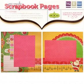 Готовые скрапстраницы для альбома, Merry Bright, Premade Scrapbook Pages, размер 20×20 см, 41305-9