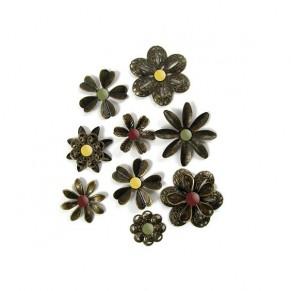 Брадсы Antique Metal Flower Brads, WeRMemory Keepers, 41997-6