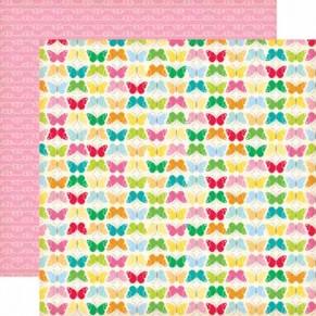 Бумага для скрапбукинга Butterfly, 30х30 см, Echo Park, CD16010