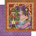 Лист картона Nutcracker Sweet, Graphic 45, 30×30 см, 4500549