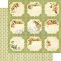 Лист картона Meadow Lark, Secret Garden, Graphic 45, 30×30 см, 4500656