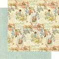 Лист картона Posy Patch, Secret Garden, Graphic 45, 30×30 см, 4500657