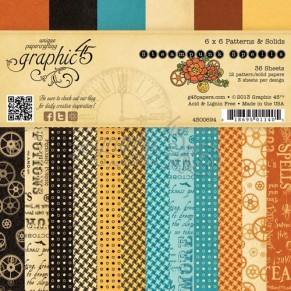 Набор бумаги Steampunk Spells, 15 х 15 см, Graphic45, 4500694