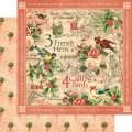 Лист картона Calling Birds,12 Days of Christmas, Graphic 45, 30×30 см, 45007233
