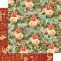 Лист картона Christmas Rose, 12 Days of Christmas, Graphic 45, 30×30 см, 4500724