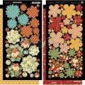 Набор высечек Twelve Days of Christmas Cardstock Flowers, Graphic 45, 4500736