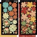 Набор высечек Twelve Days of Christmas Cardstock Flowers, Graphic 45, 4500736
